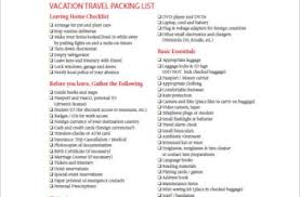 cruise packing list template template docs form u0026 templates