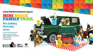 lego mini cooper mini brick family trail historical in tiverton mid devon