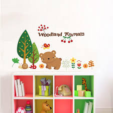 popular woodland wall stickers buy cheap woodland wall stickers woodland animal cherry christmas wall stickers home decorations bear tree flower removable vinyl wall decals happy