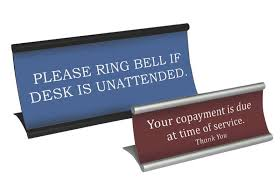 custom office desk signs desktop name plates desk counter office signs medical throughout