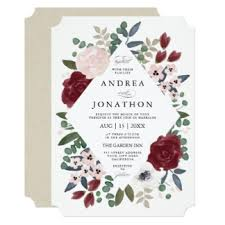 wedding invatations floral wedding invitations announcements zazzle
