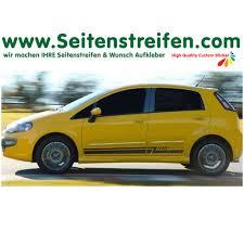 fiat punto 2014 side stripes decal car sticker custom side stripes u0026 sticker