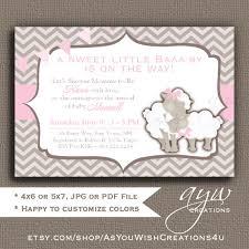 s shower invitations sheep baby shower girl invitation baby shower invitation