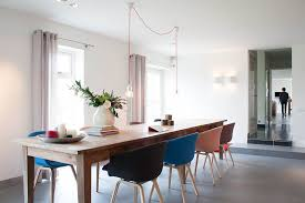 amsterdam purple dining chairs room contemporary with step down