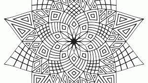 black and white geometric coloring page kids coloring