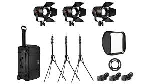 Light Travel Fiilex Flxk302 K302 All Weather 3 Light Travel Kit Led