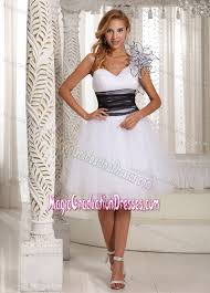 middle school graduation dresses white one shoulder knee length middle school graduation dresses