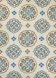 Cream And Blue Rug Covington 3002 0820 San Clemente Cream Blue Area Rug By