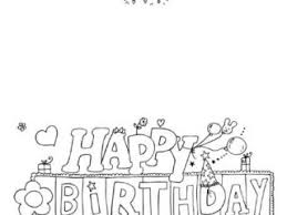 printable birthday cards to color happy birthday colouring card