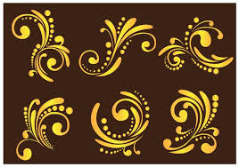 western flourish ornament free vector stock graphics