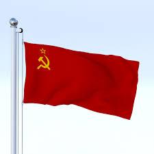 Union Flags Animated Soviet Union Flag 3d Model