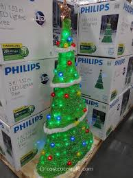 philips led lighted tinsel tree