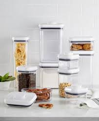 oxo pop food storage containers set of 5 stainless steel