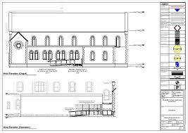 Chapel Floor Plans And Elevations Centre For The Creative Arts And Media Ccam Gmit Dac Drawings