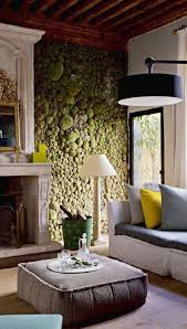 the living room moss wall all the dark rooms