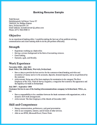Personal Banker Job Description For Resume by Learning To Write From A Concise Bank Teller Resume Sample