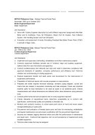 Example Resume For Maintenance Technician by Power Plant Instrument Technician Resume