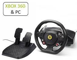 458 italia thrustmaster 458 italia xbox 360 pc steering wheel wheel and pedals