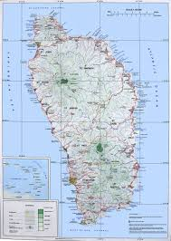 Maps Of The Caribbean by Map Of Dominica Travel