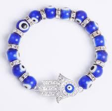 blue eye bracelet images Blue beaded crystals handmade hamsa evil eye bracelet nzrt png