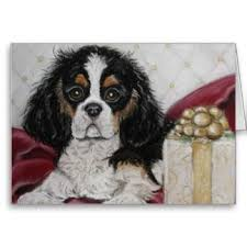 15 best cavalier king charles spaniel christmas cards images on