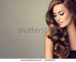 girl hair beautiful girl wavy shiny hair stock photo 457582534