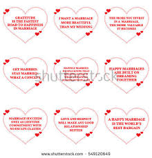 wedding quotes simple set wishes quotes stock vector 549120835