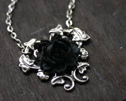 black rose pendant necklace images Black rose necklace gothic steampunk necklace gothic steampunk jpg