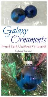 diy galaxy ornaments poured paint ornaments