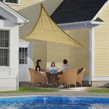 Sail Cover For Patio by Shadelogic Sun Shade Sail Heavy Weight 16 Foot Triangle Sand