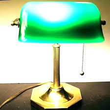 green glass shade bankers l bankers table l green vintage green desk l bankers desk l
