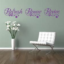 refresh renew revive relax wall sticker art decal bathroom beauty refresh renew revive wall sticker
