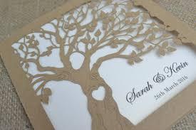 laser cut invitation rustic wedding invitation laser cut tree