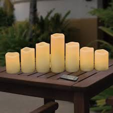 Outdoor Candle Lighting by 7 Piece Outdoor Flameless Led Candle Set At Home At Home