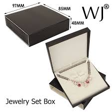 necklace earring gift box images Upscale faux leather gift jewelry display box bridal chain jpg