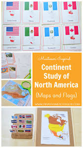 Do Continents Have Flags Flags Of North America Montessori Research And Development