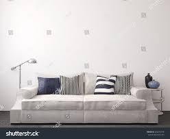 modern livingroom interior couch near empty stock illustration