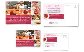 corporate event planner u0026 caterer postcard template word u0026 publisher