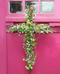 summer floral cross wreath bonnie harms designs