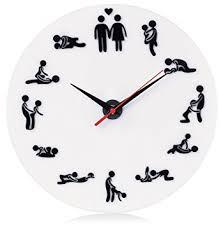 kamasoutra dans la cuisine horloge murale modèle blanc env 30 cm de diamètre
