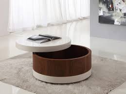 coffee table wonderful round storage ottoman coffee table with