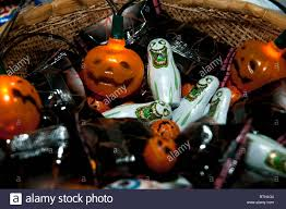 halloween basket a halloween basket of sweets and offerings to children and trickle