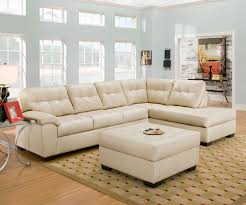 Soho Sectional Sofa 2 Sectional Sofa In Soho Pearl Bonded Leather