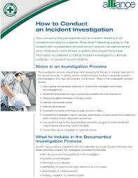 workplace investigation report template memorandum for regional administrators state designees how to conduct an incident investigation your company has just experienced an incident resulting in an