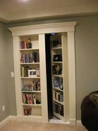 Space Saver Bookcase Clever Sliding Bookcases I Love Secret Rooms Via Dwell Home Is