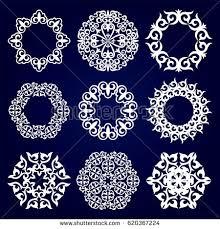 asian designs set nine asian designs medallions design stock vector 620367224