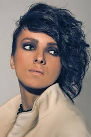 hair style for women with one side of head shaved one side short haircut hair style and color for woman