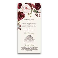 photo wedding programs floral wedding wedding programs fall burgundy gold