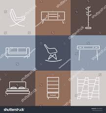 Modern Furniture Design Seamless Pattern Modern Furnituretemplate Design Background Stock