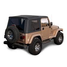 black jeep wrangler sierra offroad jeep wrangler tj soft top 97 02 in black denim with